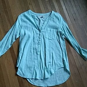 Mint colored tunic top